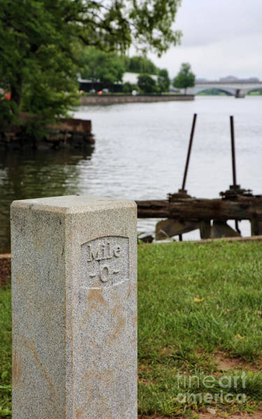 Photograph - Milestone Zero On The C And O Canal by William Kuta