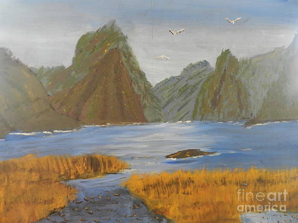 Wall Art - Painting - Milford Sound by Pamela Meredith