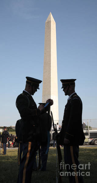 Photograph - Military Ceremony At The Washington Monument by William Kuta
