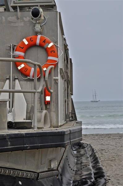 Photograph - Military Hovercraft And Ship by Bridgette Gomes