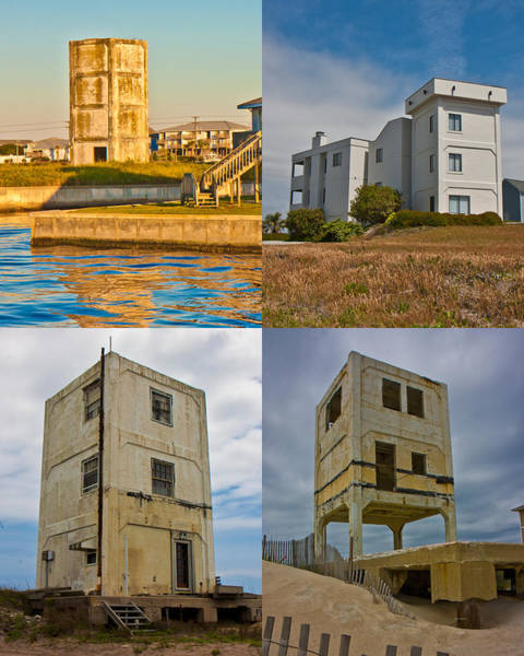 Topsail Photograph - Military Observation Towers Operation Bumblebee by Betsy Knapp