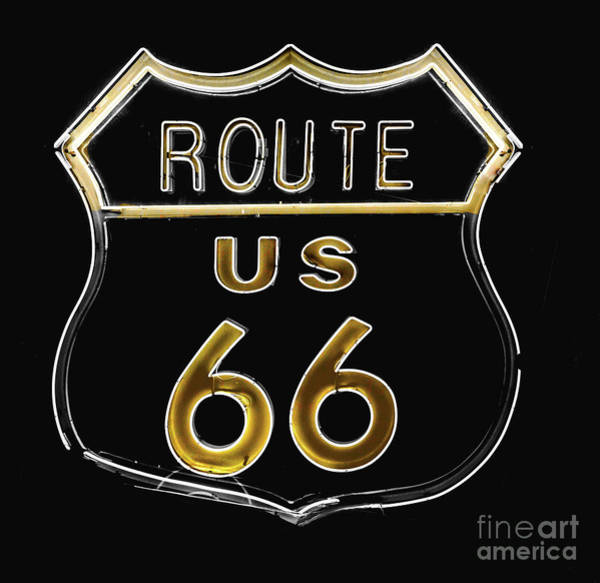 Neon Sign Painting - Milk And Honey Route 66 by Mindy Sommers