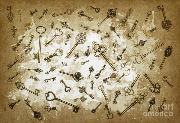 Skeleton Key Photograph - Milk And Keys Abstract Still Life by Jorgo Photography - Wall Art Gallery