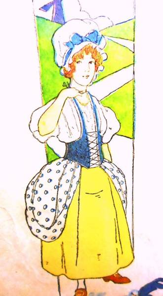 Mother Goose Drawing - Milk Maid by Lord Frederick Lyle Morris - Disabled Veteran