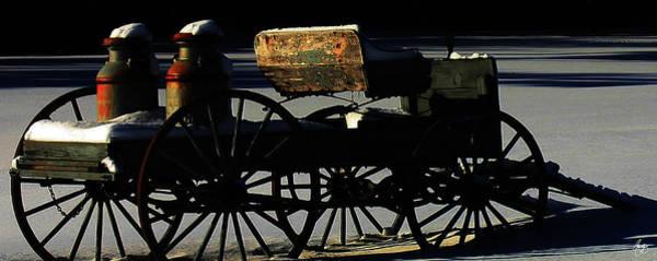 Photograph - Milk Wagon In Winter Shadows by Wayne King