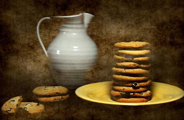 Wall Art - Photograph - Milk With Cookies by Diana Angstadt