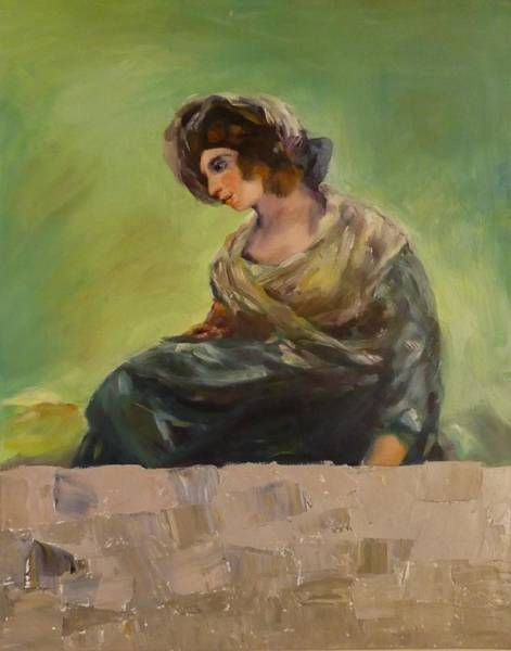 Painting - Milkmaid From Bordeaux After Goya by Irena Jablonski