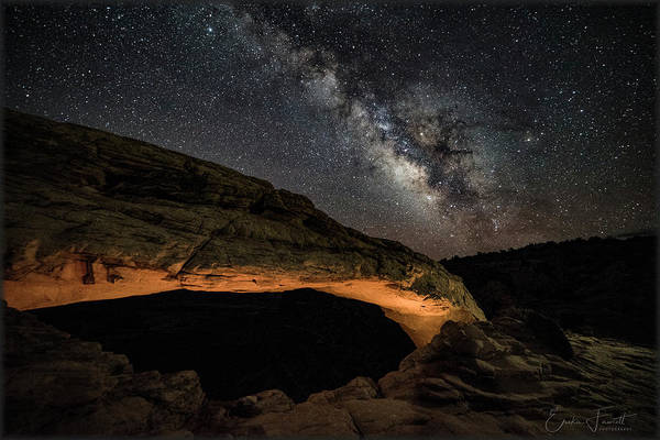 Photograph - Milky May Over Mesa Arch by Erika Fawcett
