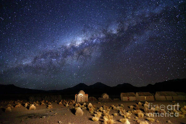 Photograph - Milky Way Above Abandoned Church In Altiplano Bolivia by James Brunker