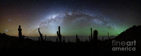 Photograph - Milky Way Above Incahuasi Island Panoramic by James Brunker