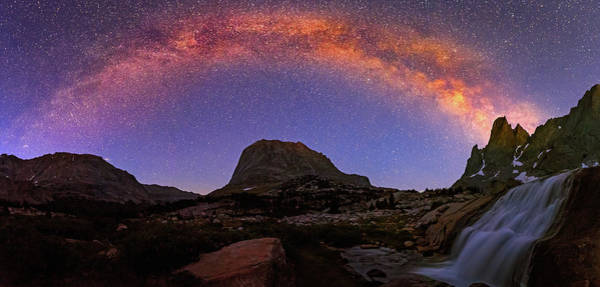 Photograph - Milky Way Above The Wind River Mountains. by Johnny Adolphson