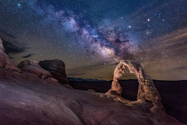 Photograph - Milky Way And Delicate Arch by Michael Ash