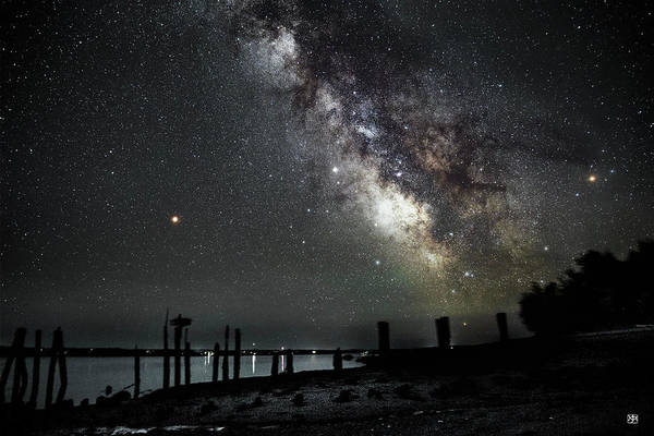 Photograph - Milky Way And Mars by John Meader