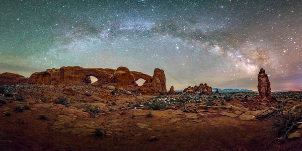 Photograph - Milky Way At Arches Park by Michael Ash