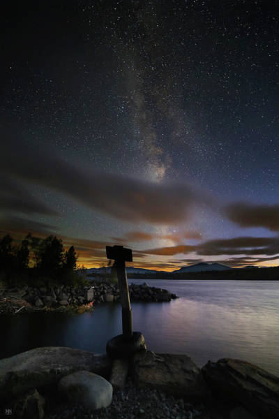 Photograph - Milky Way At Flagstaff Lake by John Meader