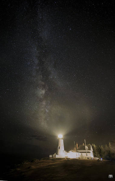 Milky Way At Pemaquid Light Art Print