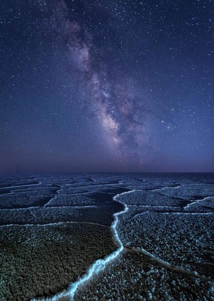 Milky Way At The Salt Flats Art Print
