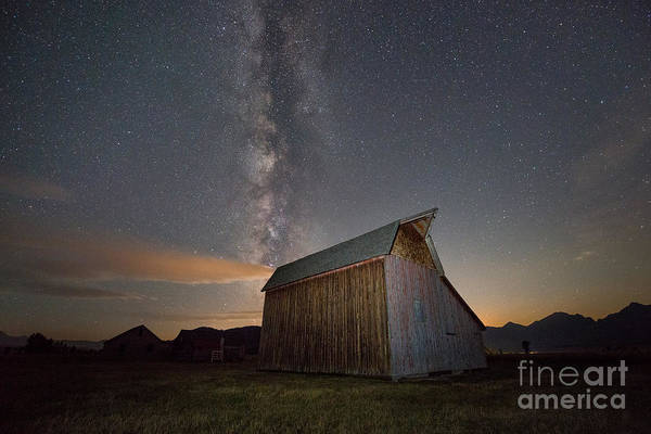 Moulton Wall Art - Photograph - Milky Way Barn On Mormon Row by Michael Ver Sprill