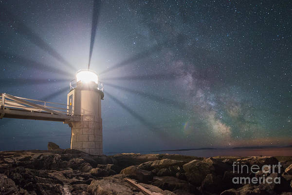 Marshall Point Lighthouse Photograph - Milky Way Beacon Of Light by Michael Ver Sprill