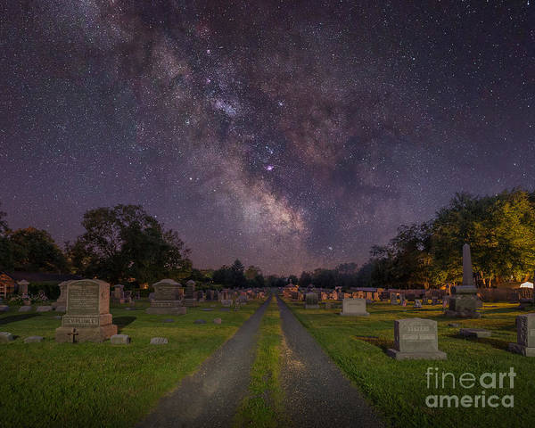 Spin Wall Art - Photograph - Milky Way Cemetery by Michael Ver Sprill