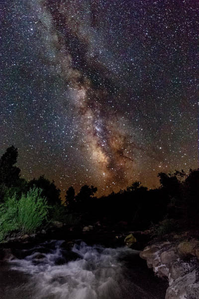Herron Photograph - Milky Way Flowing To Life by Mike Herron