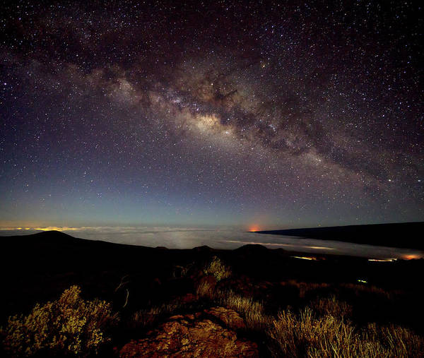 Photograph - Milky Way From Mauna Kea by Christopher Johnson