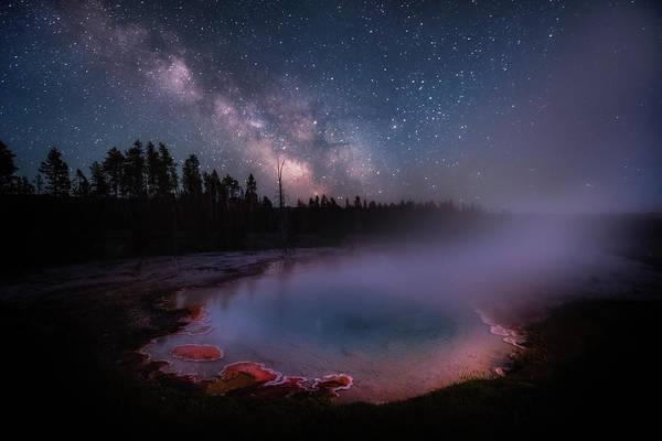 Milky Way In Yellowstone Art Print