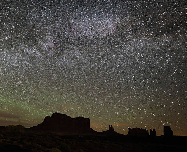Photograph - Milky Way Monuments by Jean Clark