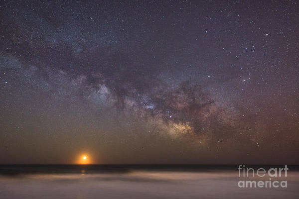 Moonrise Photograph - Milky Way Moonrise  by Michael Ver Sprill
