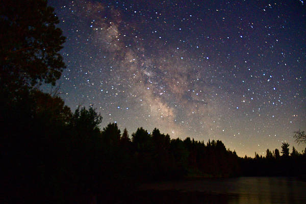 Wall Art - Photograph - Milky Way On The Ausable 5904 by Michael Peychich