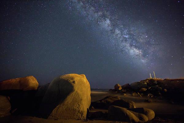 Photograph - Milky Way On The Beach by Daniele Fanni