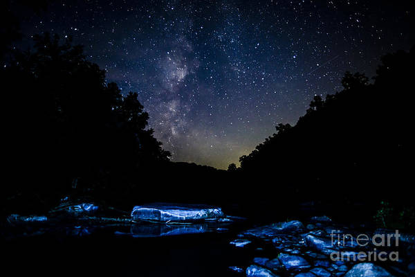 Photograph - Milky Way Over Baptizing Hole by Thomas R Fletcher