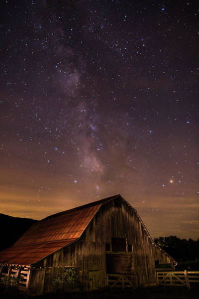 Milky Way Over Boxley Barn Art Print