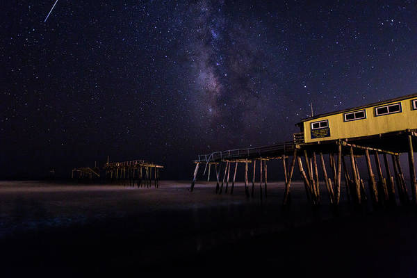 Photograph - Milky Way Over Frisco Pier by M C Hood