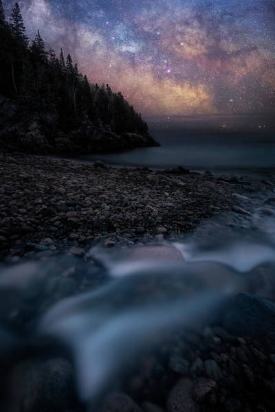 Wall Art - Photograph - Milky Way Over Hunters Beach - Acadia National Park by Jeff Bazinet