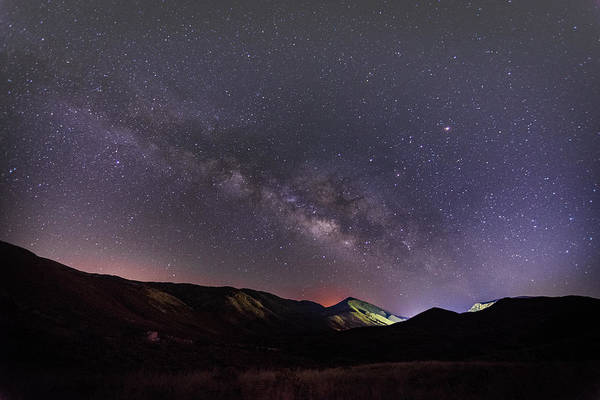 Photograph - Milky Way Over Laguna Mountains by TM Schultze