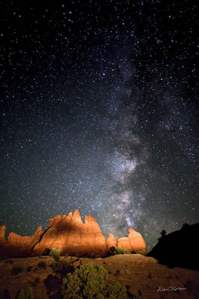 Photograph - Milky Way Over Navajo Rocks by Dan Norris