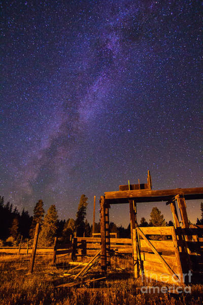 Photograph - Milky Way Over Old Corral by John R. Foster