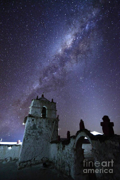 Photograph - Milky Way Over Parinacota Church Chile by James Brunker