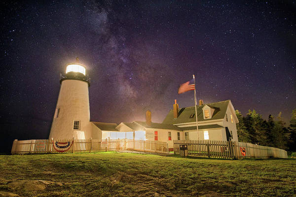 Photograph - Milky Way Over Pemaquid Point by Jesse MacDonald