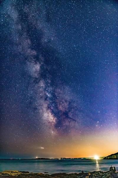 Perseid Wall Art - Photograph - Milky Way Over Portland Head by Tim Sullivan