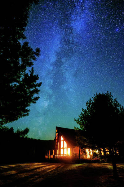 Catskills Photograph - Milky Way Over Pucker Street, Potter Hollow, Ny. by Geoffrey Baker