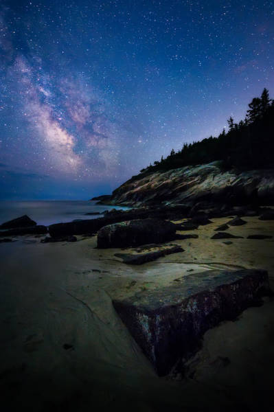 Acadia National Park Wall Art - Photograph - Milky Way Over Sand Beach - Acadia National Park by Jeff Bazinet