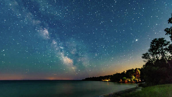 Photograph - Milky Way Over The Bay by Randy Scherkenbach