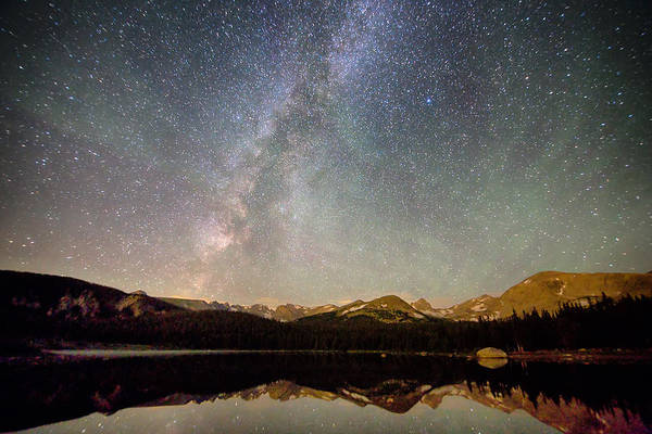 Photograph - Milky Way Over The Colorado Indian Peaks by James BO Insogna