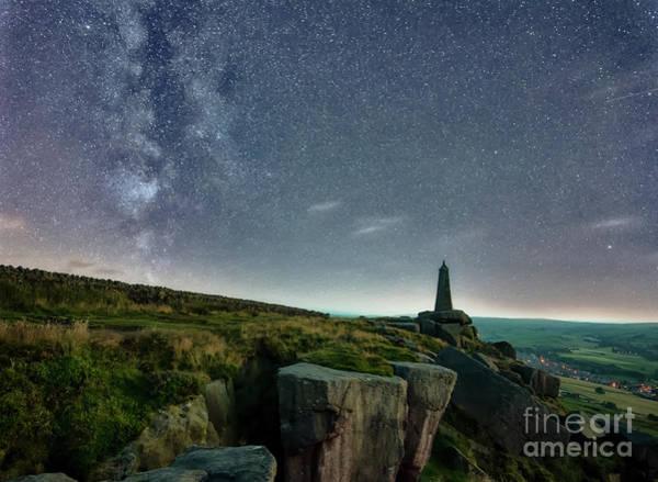 Photograph - Milky Way Over The Earl Crag by Mariusz Talarek