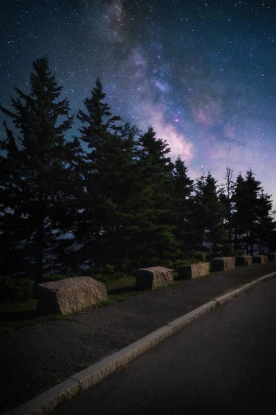 Acadia National Park Wall Art - Photograph - Milky Way Over The Park Loop Road - Acadia National Park by Jeff Bazinet