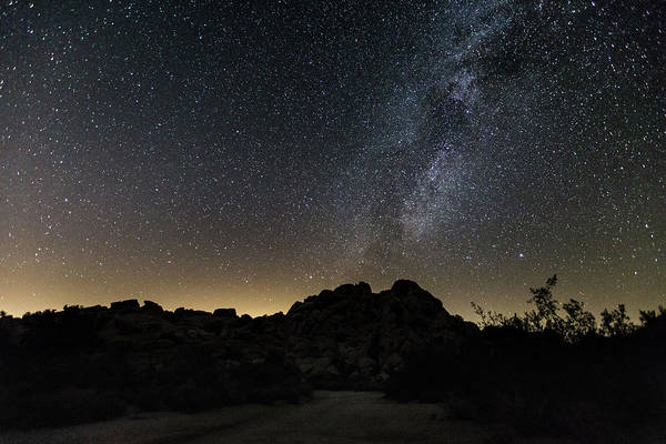 Photograph - Milky Way Over The Rocks by M C Hood