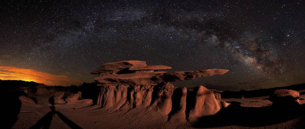 Badlands Photograph - Milky Way Rainbow In The Bisti Badlands by Mike Berenson