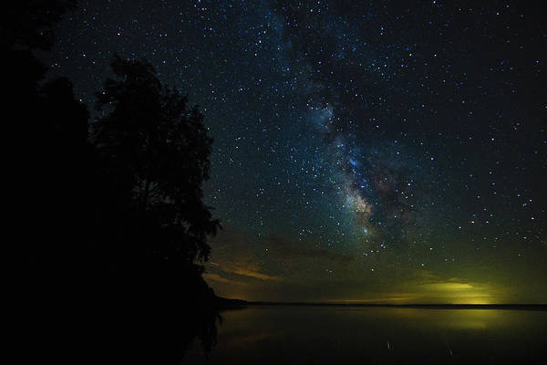 Photograph - Milky Way Reflections by Pete Federico